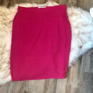 Sonia Rykiel knee length skirt . Hot pink .